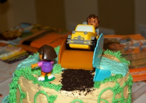 Top of Diego Cake