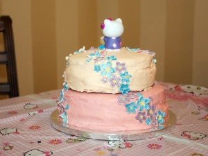 Back of Hello Kitty Cake