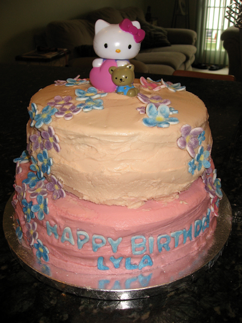 Front of Hello Kitty Cake