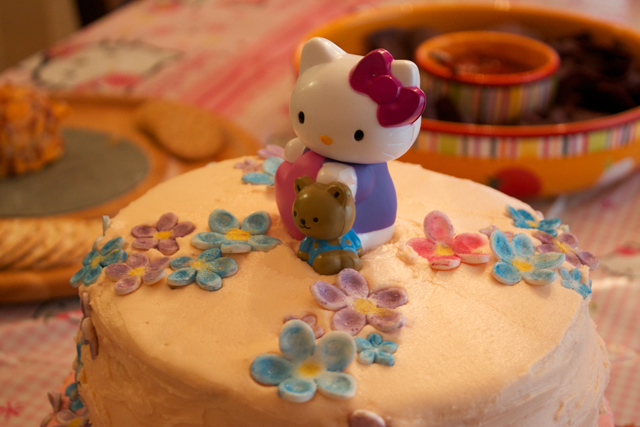 Top of Hello Kitty Cake