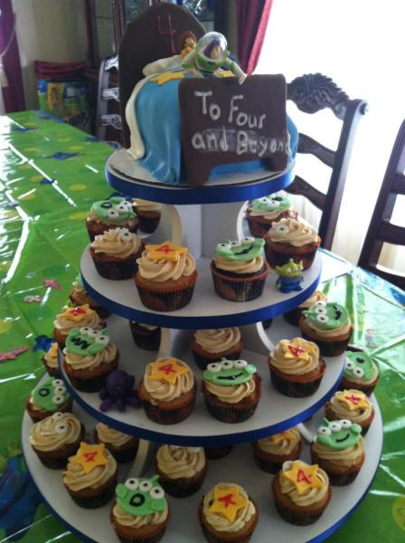 Toy Story Cupcake Tree with Andy's Bed