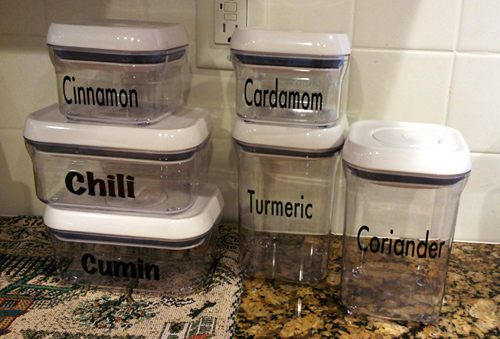 personalized spice containers