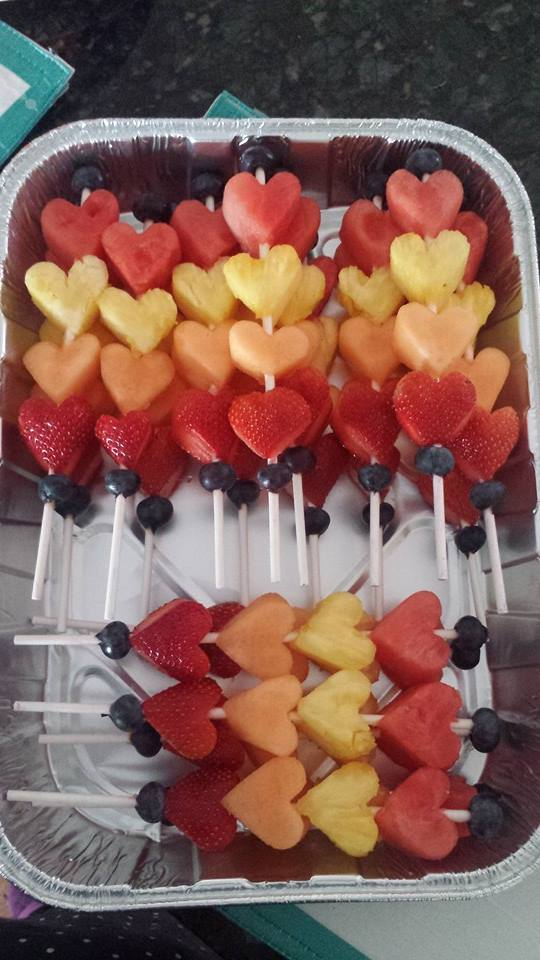 Heart-Shaped Fruit Kebabs